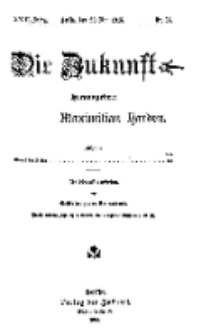 Die Zukunft, 29. Mai, Jahrg. XXIII, Bd. 91, Nr 35.