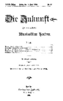 Die Zukunft, 5. Juni, Jahrg. XXIII, Bd. 91, Nr 36.