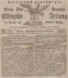 Elbingsche Zeitung, No. 11 Donnerstag, 6 Februar 1823
