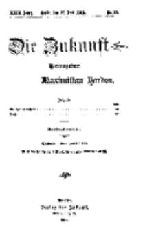 Die Zukunft, 19. Juni, Jahrg. XXIII, Bd. 91, Nr 38.