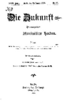 Die Zukunft, 29. Januar, Jahrg. XXIV, Bd. 94, Nr 17.