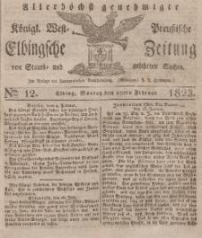 Elbingsche Zeitung, No. 12 Montag, 10 Februar 1823