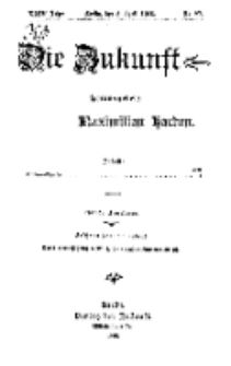 Die Zukunft, 8. April, Jahrg. XXIV, Bd. 95, Nr 27.