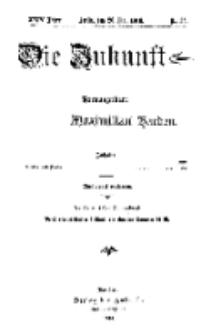 Die Zukunft, 20. Mai, Jahrg. XXIV, Bd. 95, Nr 33.