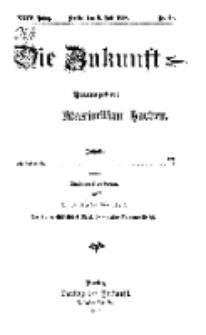 Die Zukunft, 8. Juli, Jahrg. XXIV, Bd. 96, Nr 40.