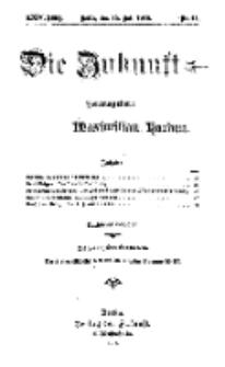Die Zukunft, 15. Juli, Jahrg. XXIV, Bd. 96, Nr 41.