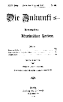 Die Zukunft, 19. August, Jahrg. XXIV, Bd. 96, Nr 46.