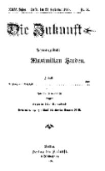 Die Zukunft, 23. September, Jahrg. XXIV, Bd. 96, Nr 51.