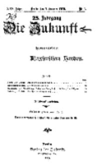 Die Zukunft, 7. Oktober, Jahrg. XXV, Bd. 97, Nr 1.