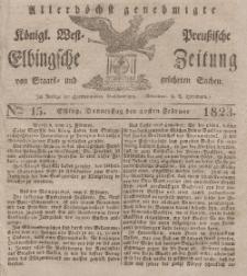 Elbingsche Zeitung, No. 15 Donnerstag, 20 Februar 1823