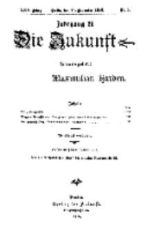 Die Zukunft, 25. November, Jahrg. XXV, Bd. 97, Nr 8.
