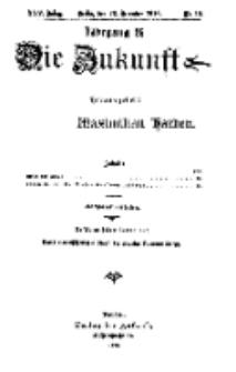 Die Zukunft, 23. Dezember, Jahrg. XXV, Bd. 97, Nr 12.