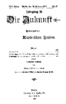 Die Zukunft, 10. Februar, Jahrg. XXV, Bd. 98, Nr 19.