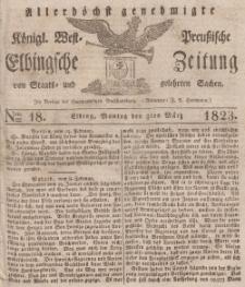 Elbingsche Zeitung, No. 18 Montag, 3 März 1823