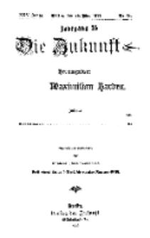 Die Zukunft, 26. Mai, Jahrg. XXV, Bd. 99, Nr 34.