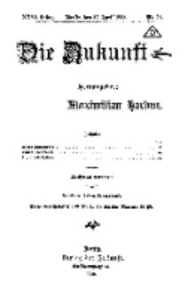 Die Zukunft, 27. April, Jahrg. XXVI, Bd. 101, Nr 22.