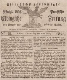 Elbingsche Zeitung, No. 19 Donnerstag, 6 März 1823