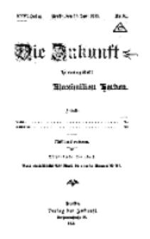 Die Zukunft, 29. Juni, Jahrg. XXVI, Bd. 101, Nr 31.