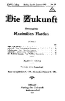Die Zukunft, 11. Januar, Jahrg. XXVII, Bd. 104, Nr 14.