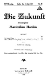 Die Zukunft, 12. Juli, Jahrg. XXVII, Bd. 106, Nr 40.