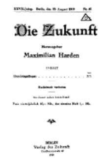 Die Zukunft, 23. August, Jahrg. XXVII, Bd. 106, Nr 46.