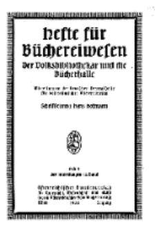 Hefte für Büchereiwesen. Der Volksbibliothekar und die Bücherhalle, 12. Band, H. 3.