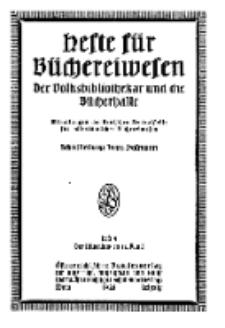 Hefte für Büchereiwesen. Der Volksbibliothekar und die Bücherhalle, 12. Band, H. 4.