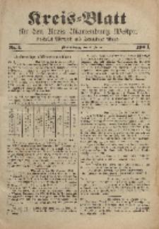 Kreis-Blatt für den Kreis Marienburg Westpreussen, 6. Januar, Nr 1.