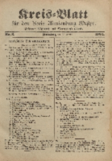 Kreis-Blatt für den Kreis Marienburg Westpreussen, 13. Januar, Nr 3.