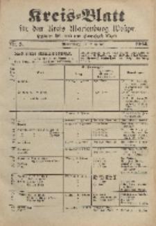 Kreis-Blatt für den Kreis Marienburg Westpreussen, 20. Januar, Nr 5.