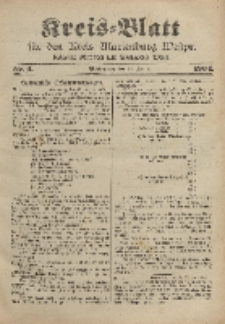 Kreis-Blatt für den Kreis Marienburg Westpreussen, 22. Januar, Nr 6.