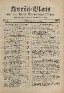 Kreis-Blatt für den Kreis Marienburg Westpreussen, 27. Januar, Nr 7.