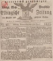 Elbingsche Zeitung, No. 27 Donnerstag, 3 April 1823