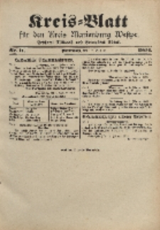 Kreis-Blatt für den Kreis Marienburg Westpreussen, 10. Februar, Nr 11.