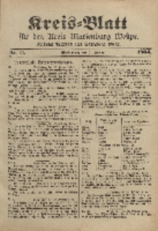 Kreis-Blatt für den Kreis Marienburg Westpreussen, 24. Februar, Nr 15.