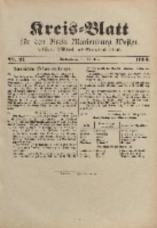 Kreis-Blatt für den Kreis Marienburg Westpreussen, 16. März, Nr 21.