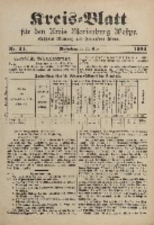 Kreis-Blatt für den Kreis Marienburg Westpreussen, 26. März, Nr 24.