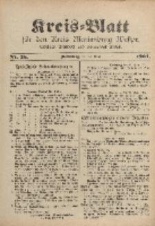 Kreis-Blatt für den Kreis Marienburg Westpreussen, 30. März, Nr 25.