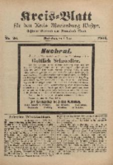 Kreis-Blatt für den Kreis Marienburg Westpreussen, 2. April, Nr 26.