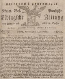 Elbingsche Zeitung, No. 30 Montag, 14 April 1823