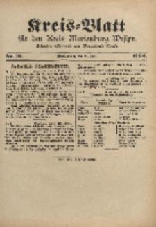 Kreis-Blatt für den Kreis Marienburg Westpreussen, 20. April, Nr 31.