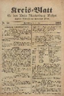 Kreis-Blatt für den Kreis Marienburg Westpreussen, 30. April, Nr 34.