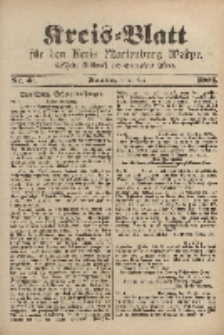 Kreis-Blatt für den Kreis Marienburg Westpreussen, 21. Mai, Nr 41.