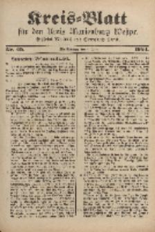 Kreis-Blatt für den Kreis Marienburg Westpreussen, 4. Juni, Nr 45.