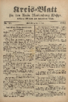 Kreis-Blatt für den Kreis Marienburg Westpreussen, 11. Juni, Nr 47.