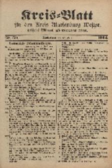 Kreis-Blatt für den Kreis Marienburg Westpreussen, 22. Juni, Nr 50.