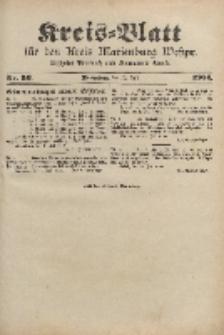 Kreis-Blatt für den Kreis Marienburg Westpreussen, 13. Juli, Nr 56.