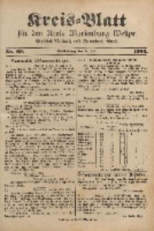 Kreis-Blatt für den Kreis Marienburg Westpreussen, 27. Juli, Nr 60.