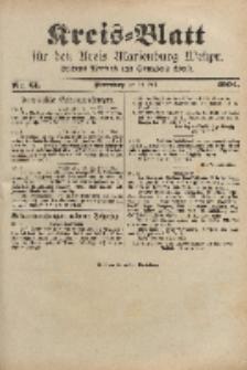 Kreis-Blatt für den Kreis Marienburg Westpreussen, 30. Juli, Nr 61.