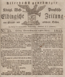 Elbingsche Zeitung, No. 33 Donnerstag, 24 April 1823